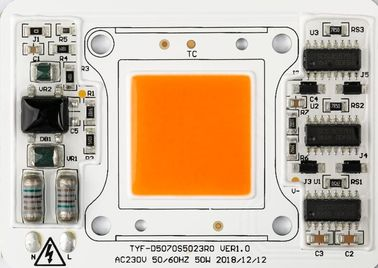 D5070 Driverless led module 220V 50W COB LED Chip Full Spectrum Plant Growth Light Floodlight outdoor Lamp High PPFD