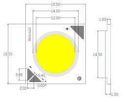 Tunnable Intelligent Stepless Dimming Cob Led 2700-5000k 24w 90 CRI